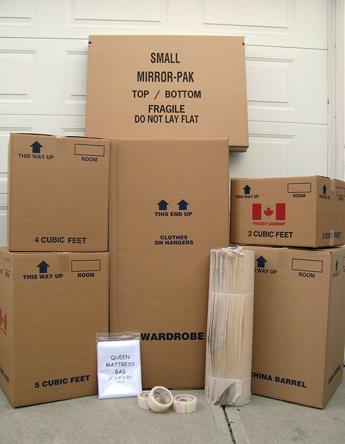 Moving Supplies and Boxes in Edmonton and Western Canada